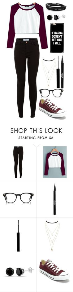 """Random Outfit #39"" by pjandhpfan23 ❤ liked on Polyvore featuring New Look, Stila, Charlotte Russe, Converse and BillyTheTree"