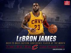 LeBron named back to back Eastern Conference Player of the month for March and previously February!!!  4/3/2015