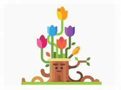 A pleasant and child-friendly animated GIF with smooth transitions from start…