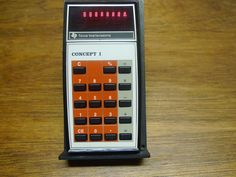 CONCEPT 1 RARE VINTAGE TI CALCULATOR WORKS PERFECTLY!