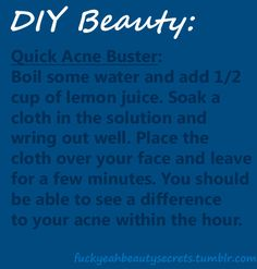 Beauty Secrets. Genius. I always love to use a honey and lemon mask for acne but this sounds lovely with some cucs on my eyes!