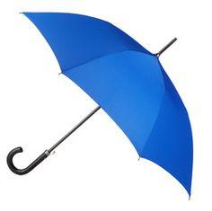 totes Designer Series Auto Open Stick Umbrella with Leather Handle - Royal Blue - Stick - Umbrellas - totes Totes Umbrella, Sun Umbrella, Snow Boots, Winter Boots, Sun Parasol, Rain Gear, Leather Handle, Royal Blue, Raincoat
