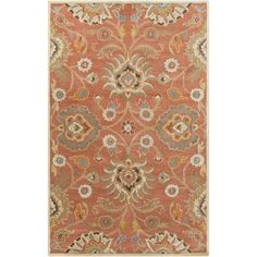 Surya CAE1107-811 Caesar 8' x 11' Rectangle Wool Hand Tufted Traditional Area Ru - Orange