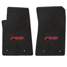 Camaro 2010-2015 2Pc Mats Ebony Velourtex RS Logo. A popular priced original equipment replacement mat with a heavier, denser face than factory mats. Velourtex provides outstanding value, with a silky smooth texture, created from premium nylon yarn. Velourtex features the same multi-layer backing as Lloyd's higher priced custom mat products, designed specifically for automotive use. Our backings feature moisture resistance, stiffness to maintain the mat shape and skid-resistance due to our…