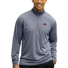 Illinois State Redbirds 1/4-Zip Tech Pullover Jacket - Heather Gray - $50.00