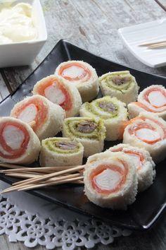 Hoy dos aperitivos en Ybarra, dos rollitos a medio camino entre un sándwich y un aperitivo...y con el aspecto de un maki sushi, con el que estamos segur@s lograrás sorprender en casa! Son perfectos para compartir, para un fiesta o para un ...