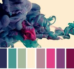 I was so captivated with the colours in this paint-in-water photograph that I made a paint palette out of it. :)