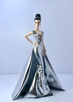 Fahsai Design Gown Outfit Dress Fashion Royalty Silkstone Barbie Model Doll FR #FahsaiDesign
