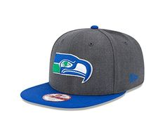 3862db5ef3d NFL Seattle Seahawks New Era Historic Heather Graphite 9FIFTY Original Fit  Cap