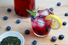 Blueberry Iced Green Tea. Tried it and i truly loved it! So delicious and refreshing!
