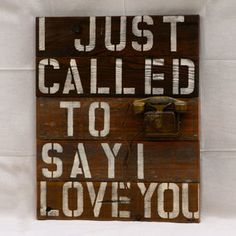 I Just Called To Say I Love You, $154, now featured on Fab.