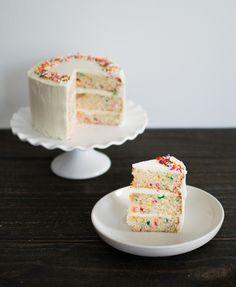 Funfetti Cake with Ermine Buttercream — bacon + egg + cheesecake