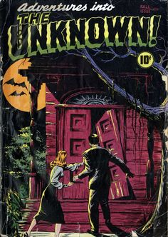 Comic Book Cover For Adventures into the Unknown #1