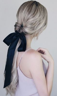 11 Bridal Hairstyles That Look Even Better With a Ribbon