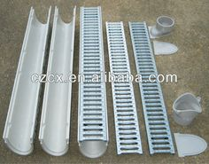 """China """"CX"""" Linear Underground drainage /rainwater drain linear drainage gutter/channel for floorway keep clean"""
