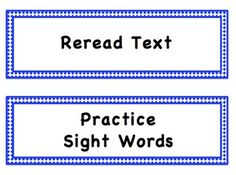 You can use these cards to create a CAFE Menu bulletin board and post the reading strategies as you introduce them.