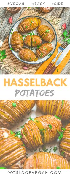 Vegan Hasselback Potatoes Pinterest Image