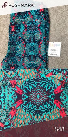 LuLaRoe TC teal and pink BNWOT brand new just didn't come with tags. Teal with hints of pink. Pretty print. Smoke free and pet free home. LuLaRoe Pants Leggings