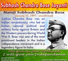 short essay netaji subhash chandra bose Subhash chandra bose was a great freedom fighter he was called 'netaji' by everyone 118 words short paragraph for kids on sub hash chandra bose.