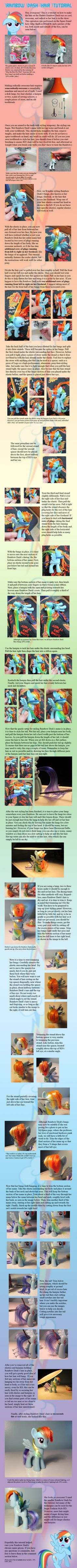 Rainbow Dash Hair Tutorial by ~countschlick on deviantART