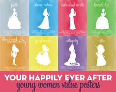 Young Women Value Princess Posters New Beginnings by YWPPHelper