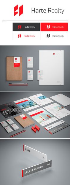 identity / Harte Realty | #stationary #corporate #design #corporatedesign #identity #branding #marketing < repinned by www.BlickeDeeler.de | Take a look at www.LogoGestaltung-Hamburg.de