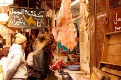 Butcher in Fes Medina, Morocco