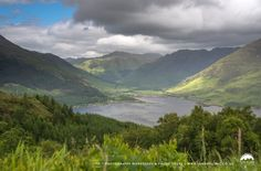 Loch Duich and surrounding mountains.