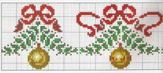 Cross Stitch Christmas Cards, Xmas Cross Stitch, Cross Stitch Borders, Cross Stitch Flowers, Christmas Cross, Cross Stitch Charts, Cross Stitching, Cross Stitch Embroidery, Cross Stitch Patterns