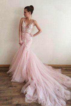 Charming Sleeveless Prom Dress, Long Tulle Prom Dresses,