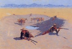 frederick remington   Frederick Remington, Fight for the Water Hole, 1903