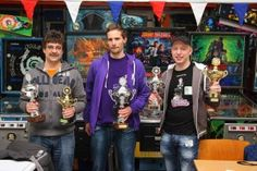 V.l.n.r. Robert, Jorian en Roy (Photo thanks to Ernö Rotter)    DUTCH PINBALL MASTERS TOERNOOI 09-02-13 and 10-02-13 in Ederveen Holland.    1e) Jorian Engebriktsson  2e) Robert Sutter  3e) Roy Wils