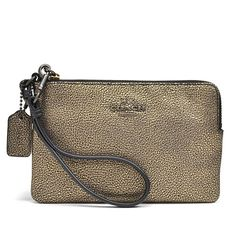 Coach Metallic Leather Small Brass L-zipper 52444 Nwt Wristlet. Get the trendiest Clutch of the season! The Coach Metallic Leather Small Brass L-zipper 52444 Nwt Wristlet is a top 10 member favorite on Tradesy. Save on yours before they are sold out!