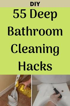Try these hacks to deep clean your bathroom! Diy Home Cleaning, Bathroom Cleaning Hacks, Household Cleaning Tips, House Cleaning Tips, Diy Cleaning Products, Deep Cleaning, Spring Cleaning, Cleaning Lists, Cleaning Schedules