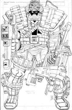 Romita Jr. - Cable: Blood and metal pin-up Comic Art