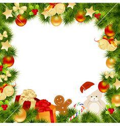Christmas Card Border Vector 599346 By Nete
