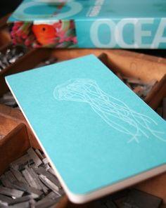 jellyfish letterpress #notebook