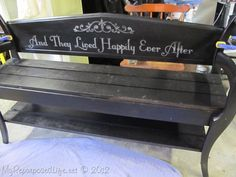 My Repurposed Life How to make a Chair Bench, 2 repurposed chairs plus 1 bench=failure. March 14, 2012 BY GAIL@MYREPURPOSEDLIFE.COM