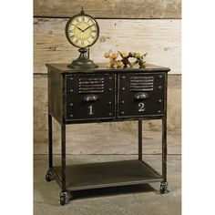 Keep your essential materials neatly organized in this beautiful vintage-inspired Locker Cart. Perfect for hanging onto books that didn't make it to the shelf, filing away notecards, or keeping important supplies, the Locker Cart is not just functional: it's an eye-pleaser to boot.