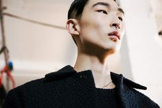 Sangwoo Kim (Select) backstage at Matthew Miller AW14