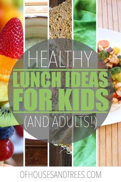 Embrace lunches full of fruit, veggies and other whole foods. These five healthy, vegan lunch ideas are certainly tastier than a PB&J sandwich! Lunch Recipes, Easy Dinner Recipes, Whole Food Recipes, Vegan Recipes, Drink Recipes, Yummy Recipes, Kid Friendly Dinner, Kid Friendly Meals, Easy School Lunches