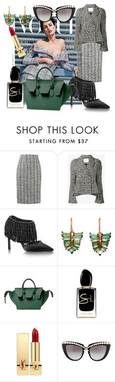 """Passion for Fashion"" by sofiacalo ❤ liked on Polyvore featuring Alexander McQueen, Erdem, CABARET, Nak Armstrong, Giorgio Armani, Yves Saint Laurent and Anna-Karin Karlsson"
