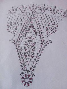 ผ้าปูโต๊ะ Col Crochet, Crochet Skirt Pattern, Crochet Doily Diagram, Crochet Doily Patterns, Crochet Books, Thread Crochet, Filet Crochet, Crochet Doilies, Crochet Stitches