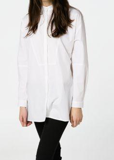 Mao collar shirt