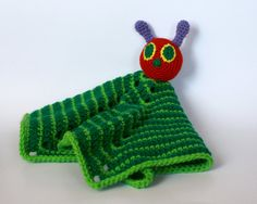 Caterpillar Lovey security blanket very hungry by TheSpunkyOnion, $28.00