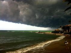 Tropical Storm Isaac passing Kitebeach, Cabarete, on the North Coast of the Dominican Republic.