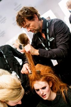 Head of Hair André Martens at the Berlin Fashion Week 2015