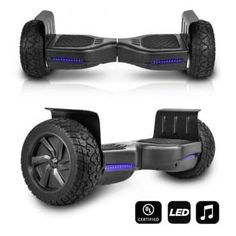 CHO All Terrain Black Rugged Inch Wheels Hoverboard Off-Road Smart Self Balancing Electric Scooter LED Lights Certified (Black) by Tonika Electronics Technology (Yichun) Co Ltd comes with special price at our store. Offroad, Balance Art, Balance Bike, Scooters For Sale, Ride On Toys, Rubber Tires, Buyers Guide, Good And Cheap, Electric Scooter