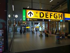 Schiphol Airport Signage