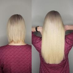 Vorher Nachher Haarverlängerung Galerie | ECHTHAIR Keratin, Tape In Extensions, Blonde Hair, Hair Beauty, Long Hair Styles, Real Human Hair Extensions, Natural Hair Journey, My Hair, Hair Ideas